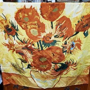 Accessories - Silk? Scarf Van Gogh Sunflowers
